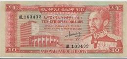 ETHIOPIA P. 27a 10 D 1966  XF+ - Ethiopie