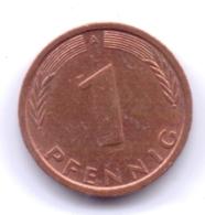 BRD 1993 A: 1 Pfennig, KM 105 - [ 7] 1949-… : RFA - Rep. Fed. Alemana
