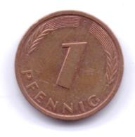 BRD 1994 F: 1 Pfennig, KM 105 - [ 7] 1949-… : RFA - Rep. Fed. Alemana