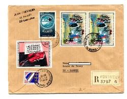 Lettre Recommandée Pontrieux Sur Dufy Berry - Postmark Collection (Covers)