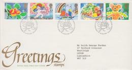 GRAN BRETAGNA 1989 FDC  GREETINGS - FDC