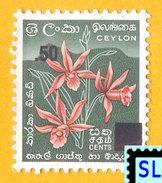 Sri Lanka Stamps 2007, Star Orchids, Flowers, Surcharge, MNH - Sri Lanka (Ceylon) (1948-...)