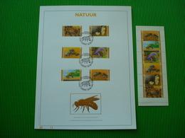 Genummerd Luxe Kunstblad Met Gouddruk 23 Karaat + Postfris Zegelboekje**natuur - Booklets 1953-....