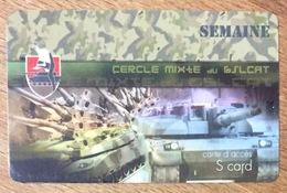 ARMÉE CERCLE DU 6 SLCAT CHARS MILITAIRE SOLDATS CARTE PASSMAN SEMAINE TÉLÉCARTE - Armée