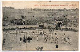 Arènes De BEZIERS - 2 CPA - Grand Concours De Gymnastique - Les Anneaux - Pyramides    (195 ASO) - Beziers