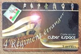 ARMÉE LÉGION 4e RÉGIMENT ÉTRANGER CARTE PASSMAN 3H PRÉPAYÉE POUR COLLECTION PAS TÉLÉCARTE PHONECARD - Armée