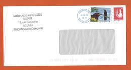 LETTRE NOUVELLE CALEDONIE Obl NOUMEA 2012  Theme OISEAU MELIPHAGE TOULOU CAGOU - Covers & Documents