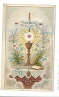 Saint-Sacrement Et Lys Sur Un Autel, Médailles. - Images Religieuses