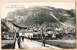 X73065 MONTMELIAN Savoie Vue Prise De La Rive Gauche De L'ISERE Animation Cyclistes 1910s BLANC 373 - Montmelian