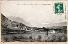 X73097 ARBIN Près MONTMELIAN Savoie Vue Générale 17-08-1908 à BATAILLARD Place Du Marché Lyon-VaiseGRIMAL - Other Municipalities