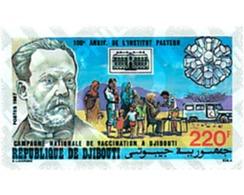 Ref. 40639 * MNH * - DJIBOUTI. 1987. CENTENARY OF THE PASTEUR INSTITUTE . CENTENARIO DEL INSTITUTO PASTEUR - Voitures