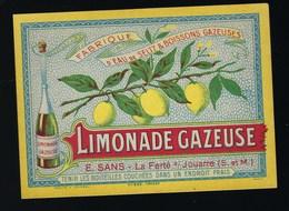 """Ancienne étiquette  Limonade  Gazeuse  E Sans La Ferté Sous Jouarre  Seine Et Marne 77 """" Citron"""" - Otros"""