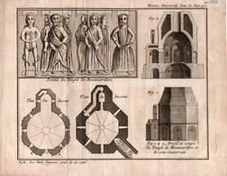 Mx04v   Gravure Histoire Universelle De 1781  Portail Coupe Du Temple De Montmorillon - Antiquité