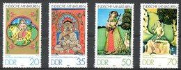 RDA. N°2083-6 De 1979. Miniatures Des Indes. - Hinduism