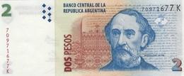 Argentina (BCRA) 2 Pesos ND (2012) Series K UNC Cat No. P-352a / AR405g - Argentine
