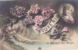 "41. SAVIGNY SUR BRAYE. CPA . RARETE. "" SOUVENIR DE SAVIGNY SUR BRAYE ""ANNÉE 1915 - Other Municipalities"
