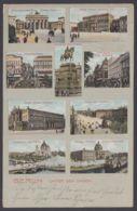 """Berlin, """"Unter Den Linden"""", Farbige Mehrbildkarte, 1906 Gelaufen - Mitte"""