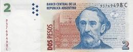 Argentina (BCRA) 2 Pesos ND (1997) Series C UNC Cat No. P-341a / AR399a - Argentine