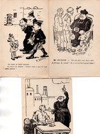 Religion :Anticlérical :  Lot De 3 Cartes - Christianity