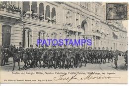 132639 ARGENTINA BUENOS AIRES DESFILE DEL COLEGIO MILITAR SECCION CABALLERIA FIESTAS PATRIAS POSTAL POSTCARD - Belize
