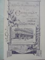 Livret Hygienne Alimentaire Le Chocolat Compagnie Coloniale - Publicités