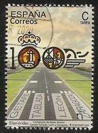 2020-ED. 5395 -Centenario De Bases Aéreas- USADO - 2011-... Afgestempeld