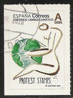 2020-ED. 5396 -Contra El Cambio Climático. Protest Stamps- USADO- - 2011-... Afgestempeld