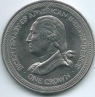 Isle Of Man - Elizabeth II - 1976 - Crown - Bicentennial American Independence - KM37 - Regionale Munten