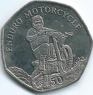 Isle Of Man - Elizabeth II - 2012 - 50 Pence - Enduro Racing - KM1492 - Isle Of Man