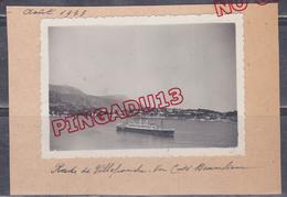Au Plus Rapide Rade De Villefranche Sur Mer Août 1933 - Bateaux
