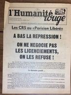 Tract : L'Humanité Rouge - Parti Communiste Marxiste-Léniniste De France - Grèves Au Parisien Libéré - 1976 - Documents Historiques