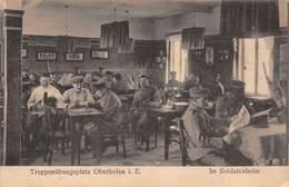 ◄1918►MILITARIA◄►CPA◄WW1►TRUPPENÜBUNGSPLATZ OBERHOFEN I. E. ◄► IM SOLDATENHEIM ◄ - Guerra 1914-18