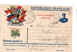 Lettre En Franchise Militaire 8 Drapeaux France Serbie Belgique Grande Bretagne Russie Montenegro Japon Italie - 1. Weltkrieg 1914-1918