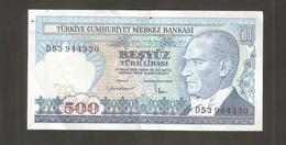 TURCHIA 500 Lire 1970 - Turchia