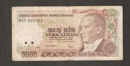 TURCHIA 5000 Lire 1970 - Turchia