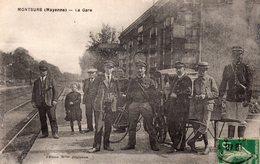 CPA De MONTSURS - La Gare. - Altri Comuni