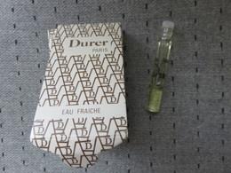 Echantillon  Tube Sur Carton Durer - Parfumproben - Phiolen
