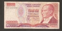 TURCHIA 20000 Lire 1970 - Turchia