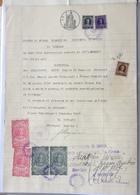 MARCHE DA BOLLO  SU CARTA BOLLATA  L.8  (1947) _ DOCUMENTO DEL SINDACO DI FIESSO UMBERTINO Con Firma Autografa - Documenti Storici