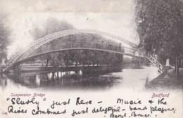 AM78 Suspension Bridge, Bedford - C1903 Hartmann Postcard - Bedford