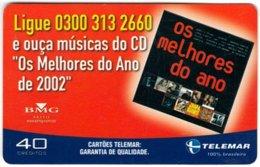 BRASIL L-836 Magnetic Telemar - Musician - Used - Brésil