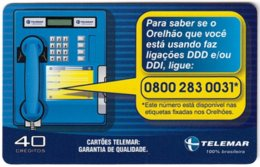 BRASIL L-847 Magnetic Telemar - 430 - Used - Brésil