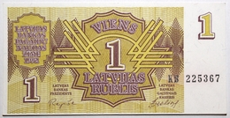 Lettonie - 1 Rublis - 1992 - PICK 35 - SPL - Letland