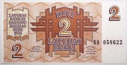 Lettonie - 2 Rublis - 1992 - PICK 36 - NEUF - Latvia