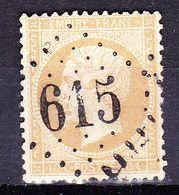 France-Yv 21, GC 615 Bretoncelles - 1849-1876: Période Classique