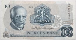 Norvège - 10 Kroner - 1984 - PICK 36c.7 - TTB+ - Norvegia