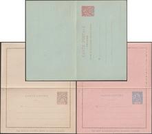 SPM - Saint Pierre Et Miquelon 1900 1901, 3 Entiers Postaux, Carte Avec Réponse Payée, 2 Cartes-lettres (CP 7, CL 8, 9) - Postal Stationery