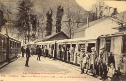 31)     LUCHON    -  Départ   Du  Chemin  De   Fer  à  Crémaillère  De Superbagnères - Luchon