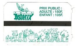 Ancien Ticket D'entrée  Parc ASTERIX  PARIS  1993 .N°267141 - Tickets - Vouchers