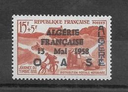 """Journée Du Timbre Algérie N° 350**, Surch. """"ALGERIE FRANCAISE 13 MAI 1958 OAS"""" - Algérie (1962-...)"""